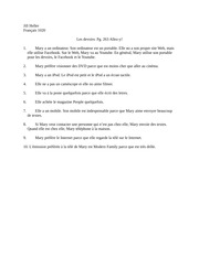 French devoirs