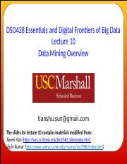 Lecture 10 - Data Mining Overview.pptx