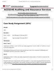 ACCG 340 : Auditing and Assurance Services - Macquarie - Course