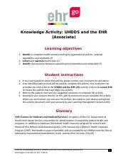 UHDDS and the EHR (Associate) HAK1018.2.docx