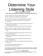 Determine Your Listening Style