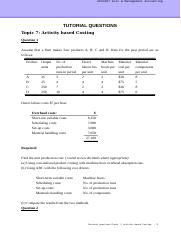 CMA_Topic 7_Activity-based Costing_Tutorial_Q.doc
