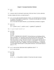 Chapter 5 Conceptual Questions Solutions