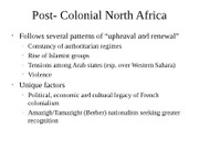 Post-Colonial North Africa and the Gulf States