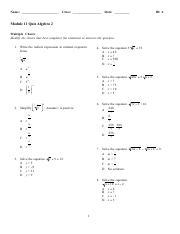 Module 11 Quiz pdf - Name Class Date ID A Module 11 Quiz