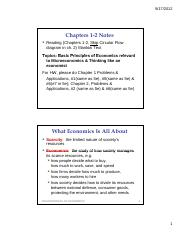 Ch 1-2 Notes