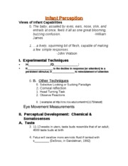 Perceptual Development (student)