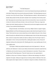 renaissance expository essay on the renaissance grace simmons  3 pages great depression