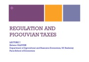 Lecture 7 - Regulation&Taxes