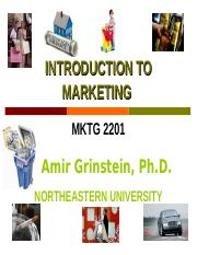 NEU_students_ Introduction to Marketing 1 Marketing, The Background