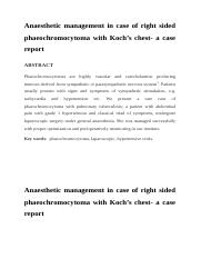 Anaesthetic management in case of right sided phaeochromocytoma.docx