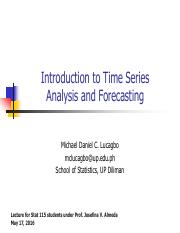 Time Series for Stat 115 class