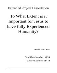 EPQ- Humanity of Jesus.docx