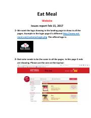 Eat Meal Issues WEBSITE