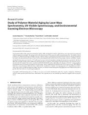 Study of Polymer Material Aging by Laser Mass.pdf