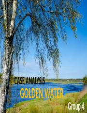 Golden Water Case Analysis.pptx