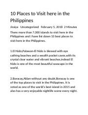 10 Places to Visit here in the Philippines.docx