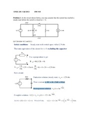 ENEE 205 HW #10 Fall 2013 +solutions