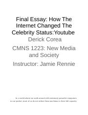 _How The Internet Changed The Celebrity Status.docx