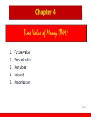 Chapter 04 Time Value of Money
