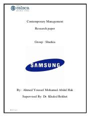 Ahmed youssef mohamed - Eslsca - Contemporary management - Samsung.pdf