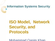 Lecture-3 ISO Model, Network Security, and Protocols