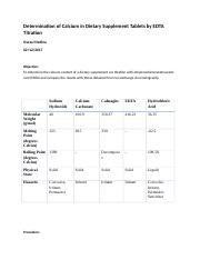 Determination of Calcium in Dietary Supplement Tablets by EDTA Titration.docx