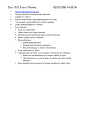 Ebio 1220 Exam 3 Notes