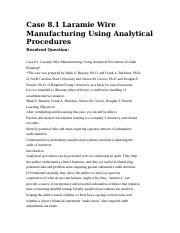 analytical procedure laramie wire manufacturing