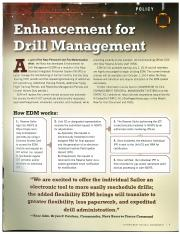 HOW TO Enhanced drill managment