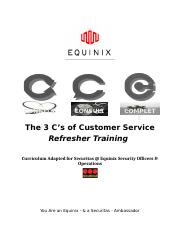 Refresher - 3 C's of Customer Service