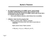 Burke's Theorem and Networks of Queues notes