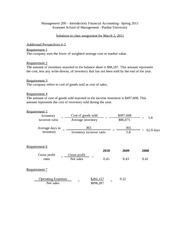 Mgmt 200 Assignment Soln 3-2-11