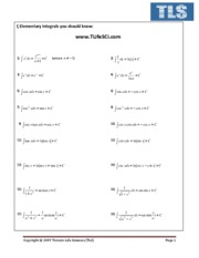 Elementary Integral 1 page[1]