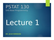 130 Lecture W1A