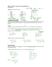 Function Notation Note