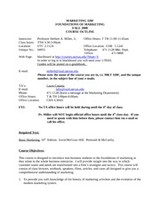 MKT 320f- F08 course outline