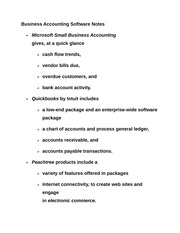 Business Accounting Software Notes