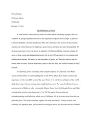 The Importance of Power Essay