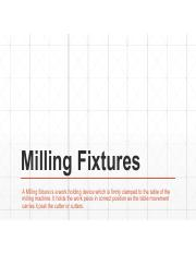 Milling and Lathe Fixtures