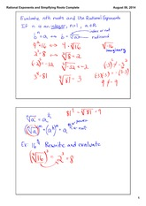 Rational Exponents and Roots Part 1