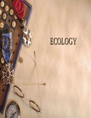 Lecture ECOLOGY, ENERGY AND NUTRIENT CYCLE