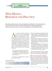 Web Mining Research and Practice