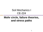 CE224 SM Mohr circle and failure theories