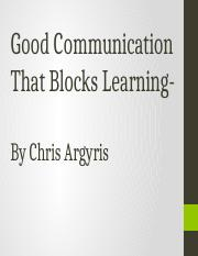 Good Communication That Blocks Learning.pptx