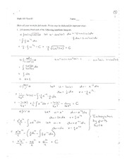 Calculus Quiz on Chapter Two