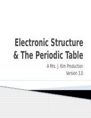 0300-6 PPT Electronic Structure & the Periodic Table (expanded)