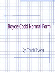 Thanh_Truong___Boyce_Codd_Normal_Form.ppt