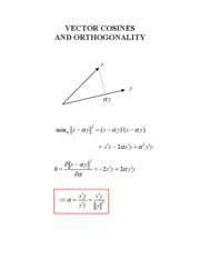 VECTOR COSINES AND ORTHOGONALITY