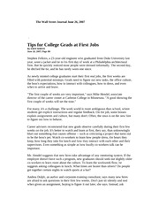 tips for college students at first jobs